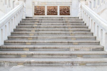 marble stairs, thailand photo