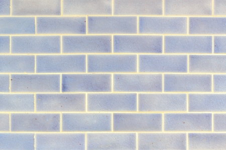 Texture background of blue and white tile wall.  Stock Photo - 17275062