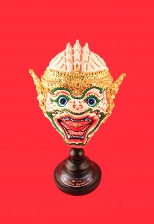 Close up face of Khon classical Thai dancing  Stock Photo - 17268977