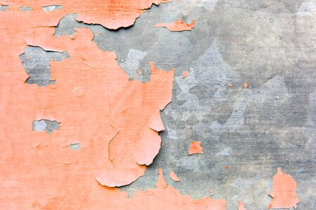 Texture background of the old decayed orange painted wall. Stock Photo - 17275214