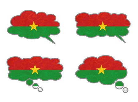 Burkina Faso Flag. Dialog box recycled paper on white background. Stock Photo - 17264952