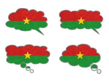 Burkina Faso Flag. Dialog box recycled paper on white background. Stock Photo - 17264952