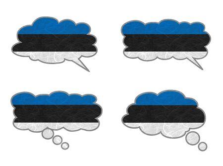 Estonia Flag. Dialog box recycled paper on white background. Stock Photo - 17264947