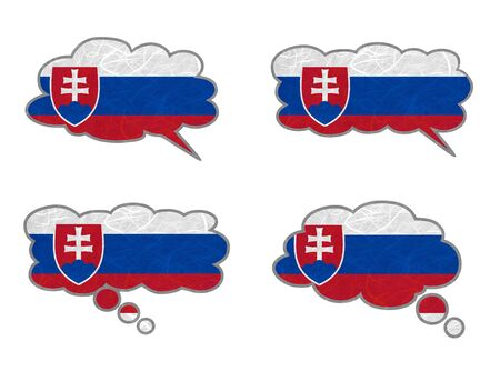 Slovakia Flag. Dialog box recycled paper on white background. Stock Photo - 17264950