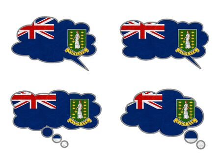 virgin islands: Virgin Islands - UK Flag. Dialog box recycled paper on white background.
