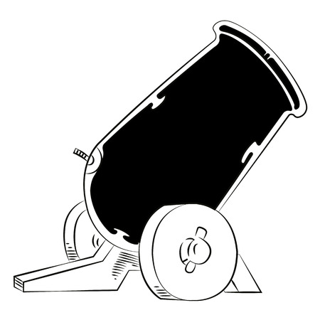 Old style cannon sketch in vector format.  Illustration