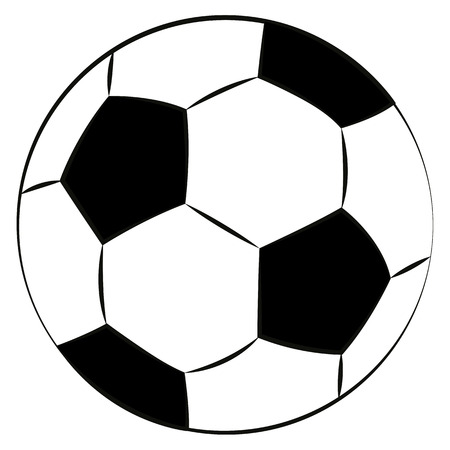 black outline vector football on white background.