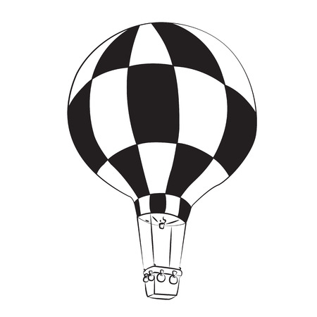 Black outline vector balloon on white background. Vector