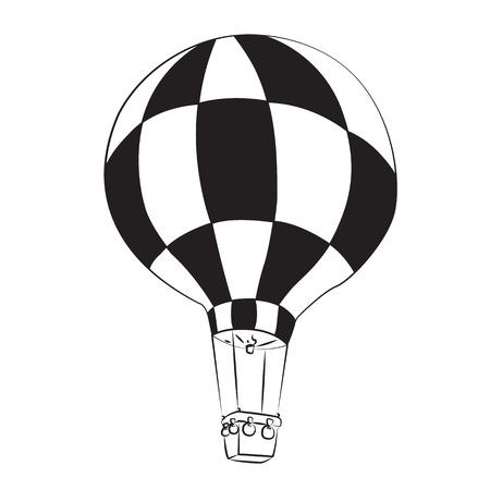 Black outline vector balloon on white background. Vector