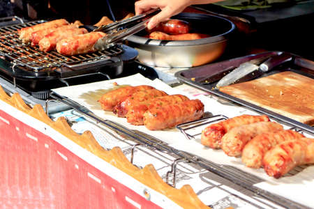 northeastern: The sausage grill style of northeastern Thailand