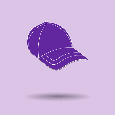 sported: Vector illustration of  box cap color background.