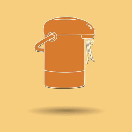 electric kettle: Vector illustration of  Electric kettle color background.