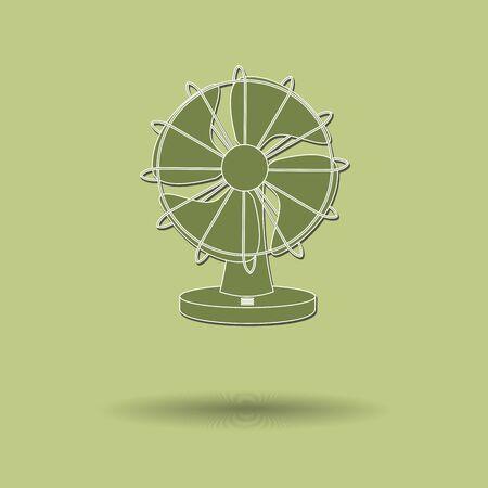 color fan: Vector illustration of  Fan color background.