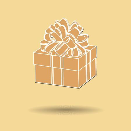 Vector illustration of  Gift box color background. Vector