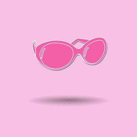 opthalmology: Vector illustration of  Glasses color background.