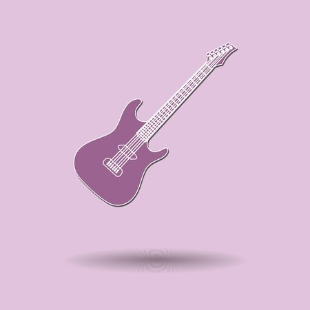 Vector illustration of  Guitar color background. Vector