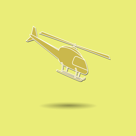 supersonic plane: Vector illustration of  Helicopter color background.