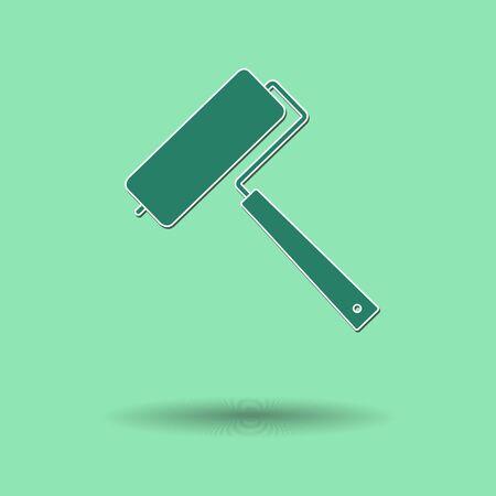 platen: Vector illustration of  Paint Paint roller color background. Illustration