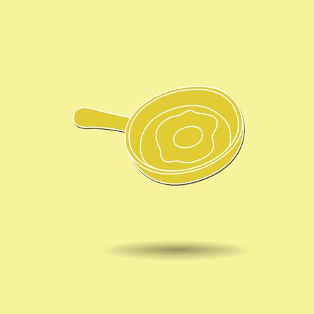 fried egg: Vector illustration of  Pan fried egg color background.