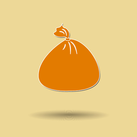 renders: Vector bag to reduce global warming is isolated on color background.