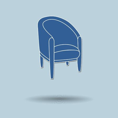 line lines luxury meeting: Vector illustration of chair against color background.