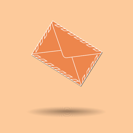 excite: Vector illustration of  Envelopes color background. Illustration