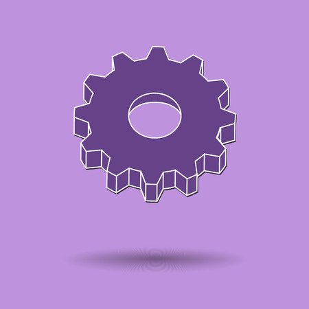 ikon: Vector illustration of  Gear color background.