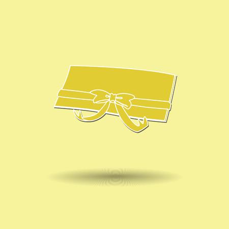 prepaid: Vector illustration of  Gift Voucher color background. Illustration