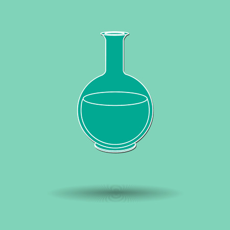 ikon: Vector illustration of  Glass experiment  color background.