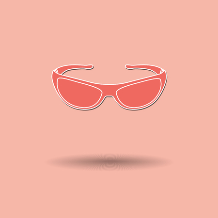opthalmology: Vector illustration of  Glasses color background.