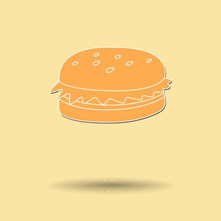 mustard seed: Vector illustration of  Hamburger color background. Illustration