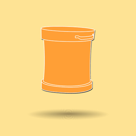 discard: Vector illustration of  Recycle Bin color background.