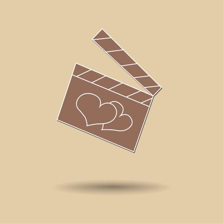 film slate: Vector illustration of  Slate film color background. Illustration