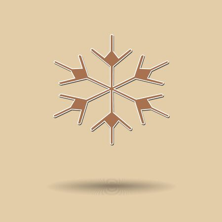 snow flake: Vector illustration of  Snow flake color background. Illustration