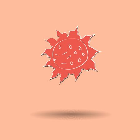 Vector illustration of  Sun color background. Vector