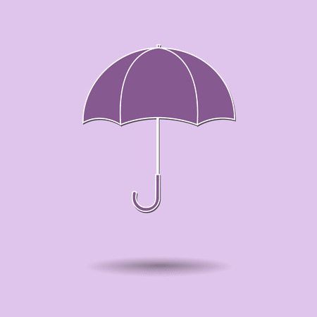 Vector illustration of  Umbrella color background. Vector