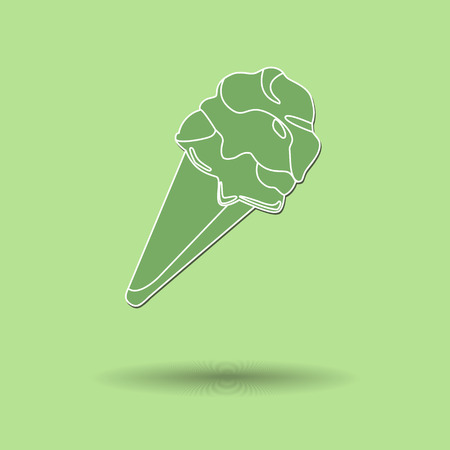 cream color: Vector illustration of  Ice cream color background. Illustration