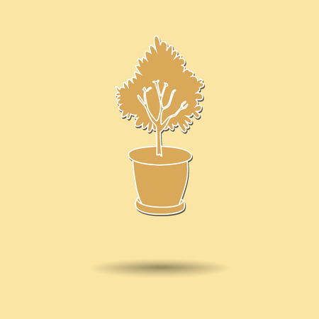 Vector illustration of  Jardiniere color background. Vector
