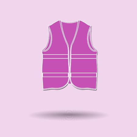 life jacket: Vector illustration of  Life jacket color background.