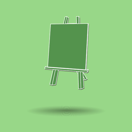 easel: Vector illustration of  Easel painting color background.