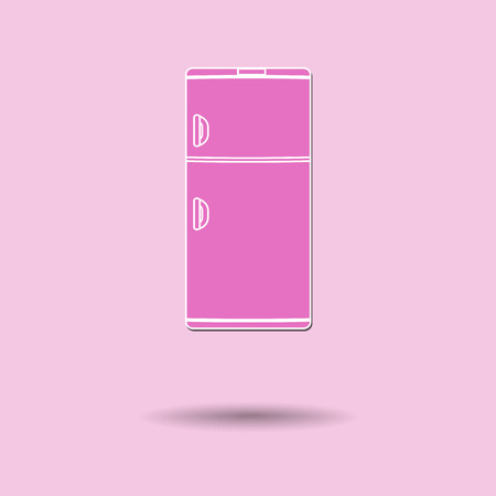 cooler boxes: Vector illustration of  Refrigerator color background.