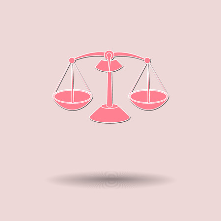 either: Vector illustration of  Scales color background.