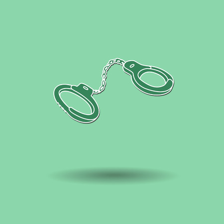 shackle: Vector illustration of  Shackles color background.