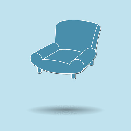 Vector illustration of  Sofa color background. Vector