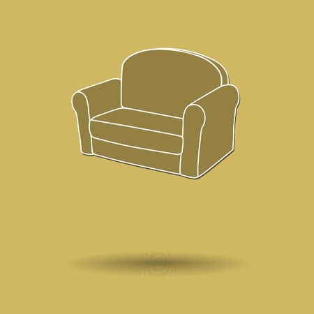 Vector illustration of  Sofa color background. Vectores