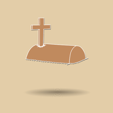 christian halloween: Vector illustration of  Tomb color background.