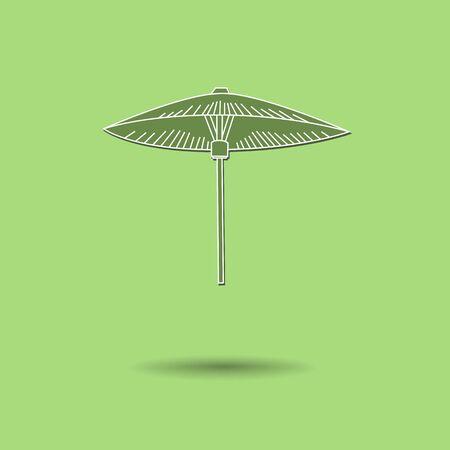 Vector illustration of  Umbrella color background. Vector