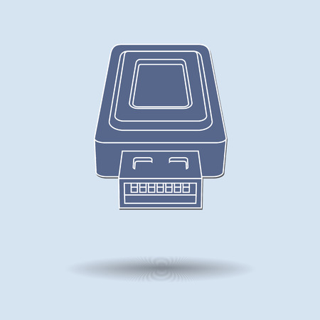 Vector illustration of  USB color background. Vector