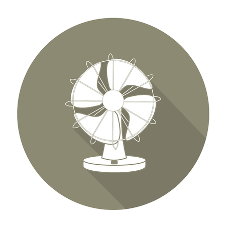 color fan: White vector fan on color circle background.