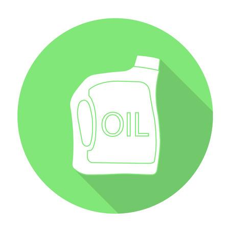 olivine: White vector oil bottle on color circle background.